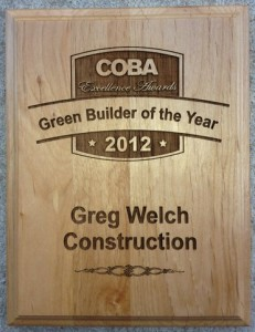 Greg Welch Named Green Builder Of The Year For