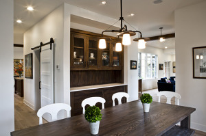 Contemporary Dining Room by Greg Welch Construction